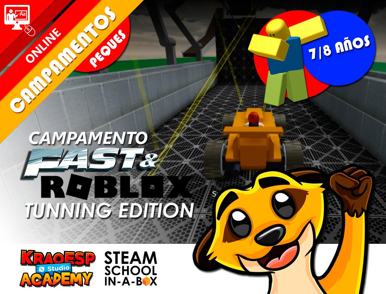 CAMPAMENTO FAST AND ROBLOX 7 A 8 AÑOS