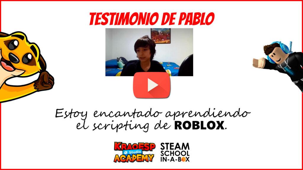 Testimonio Alumnos de la Krao Roblox Studio Academy